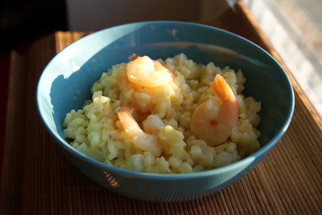risott z krewetkami i fenkułem