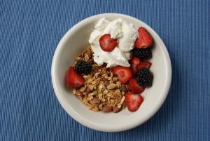 domowa granola z migdałami