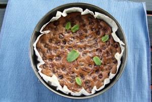 ciasto czekoladowe z wiśniami i chili