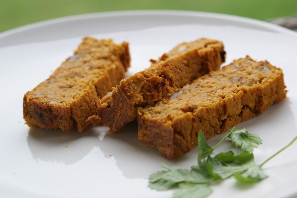 Pasztet warzywny z batatów, ciecierzycy i marchewki