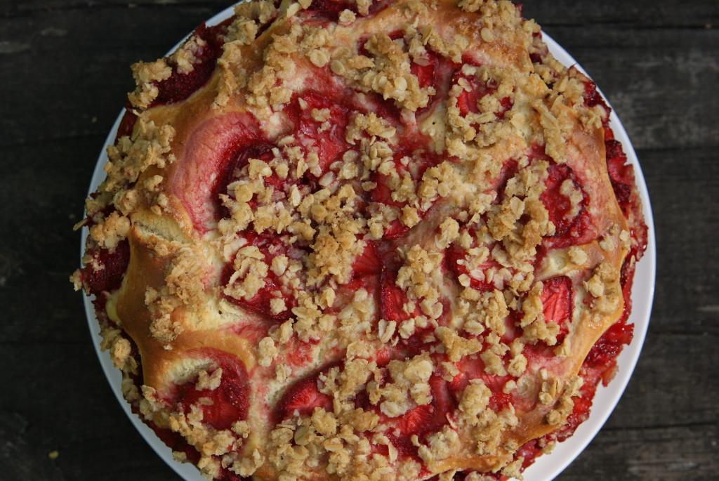 ciasto drożdżowe z kruszonką owsianą