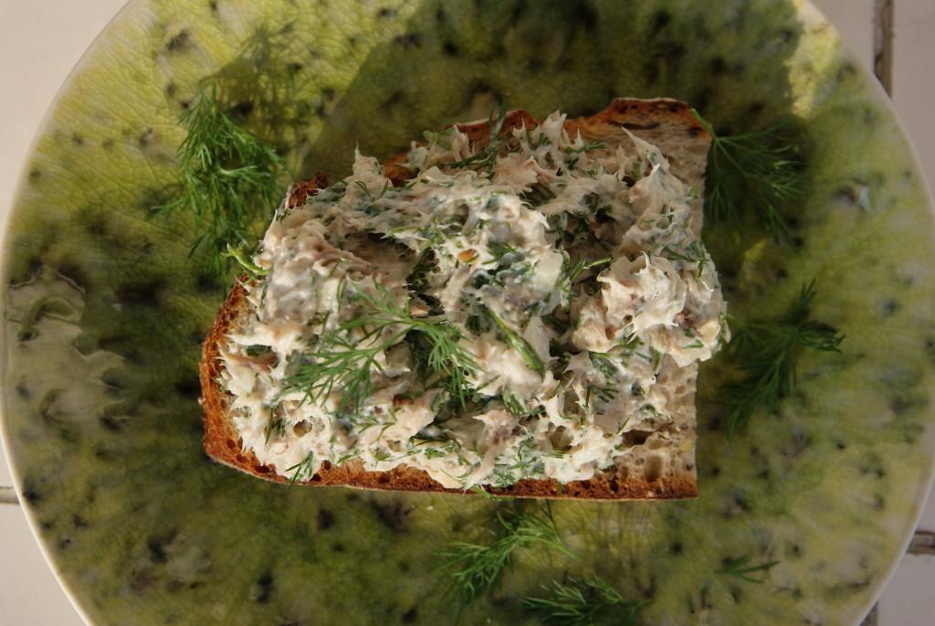 pasta z wedzonej makreli